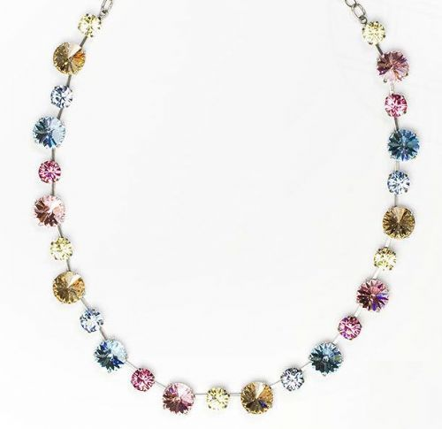 Necklace Primavera with original Swarovski Crystals Pastels